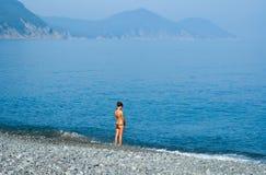 Girl at Sea 5 Royalty Free Stock Photo