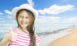 Girl and  Sea Royalty Free Stock Image