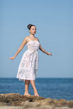 Girl at the sea Royalty Free Stock Images