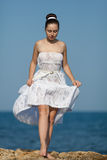 Girl at the sea Royalty Free Stock Image