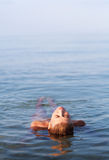 Girl in the sea Royalty Free Stock Images
