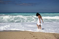 Girl, Sea, Beach, Young, Summer Royalty Free Stock Photography