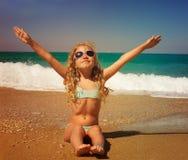 Girl at sea Royalty Free Stock Image