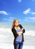 Girl on the sea Royalty Free Stock Photo