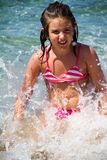 Girl in sea Stock Photos