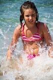 Girl in sea Stock Photos