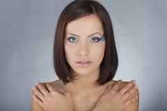 Girl with sea makeup Stock Photos