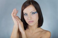 Girl with sea makeup Royalty Free Stock Photos