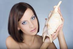 Girl with sea makeup Stock Photography