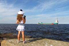 Girl at sea Royalty Free Stock Photos