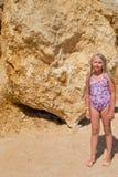 Girl on sea shore Royalty Free Stock Photos