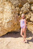 Girl on sea shore Royalty Free Stock Images