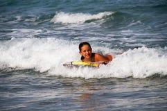 Girl in the sea stock photo