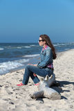 Girl by the sea Stock Photography