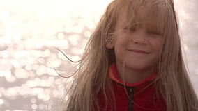 Girl and the Sea stock footage