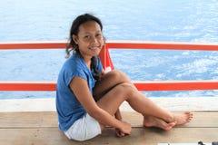 Girl by sea Royalty Free Stock Photos