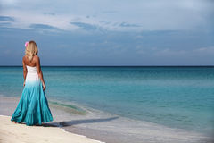 The girl by the sea Royalty Free Stock Photos