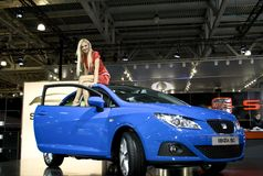 Girl on the Seat Ibiza SC Royalty Free Stock Photo