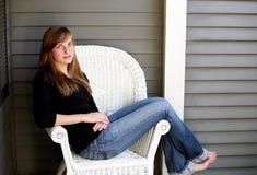 Girl seated Stock Photo