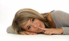 Girl secret Stock Image