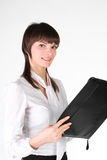 Girl - secretary Stock Images