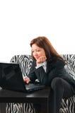 The girl the secretary Stock Photography