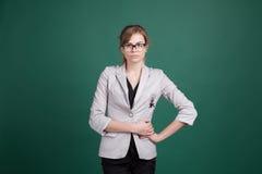 Girl Secretary business style Royalty Free Stock Photo