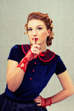 Girl secretive Royalty Free Stock Photography