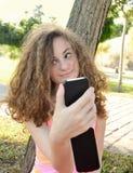 Girl selfie Stock Images