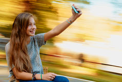 Girl selfie Stock Images
