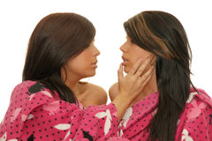 Girl sensual relationship Royalty Free Stock Image