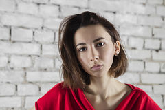 Girl with serious look Royalty Free Stock Images
