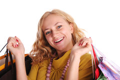 Girl with set of purchases Royalty Free Stock Images
