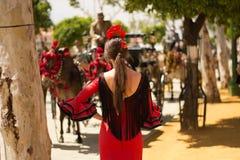 Girl at Seville Stock Photo