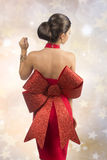 Girl with sexy christmas dress Stock Images