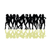 Girl sexy  silhouette Royalty Free Stock Photos