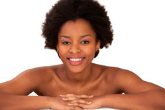 Girl sexy smile Stock Images
