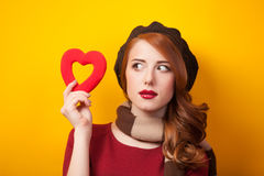 Girl with shape heart Stock Photography