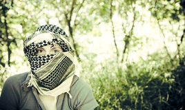Girl with shawl Royalty Free Stock Images