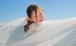 Girl in Shawl Royalty Free Stock Photos