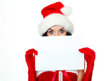 Girl with a sheet of paper Royalty Free Stock Images