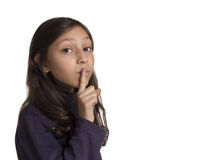 Girl shh Stock Photography