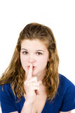 Girl shhh Royalty Free Stock Photos