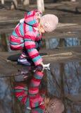 Girl with ship Royalty Free Stock Photos