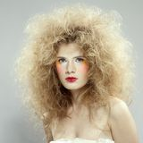 Girl with shock hair-do Royalty Free Stock Image