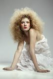 Girl with shock hair-do Royalty Free Stock Photos