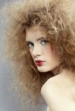 Girl with shock hair-do Stock Photo