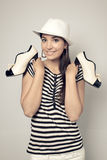 Girl and shoes Royalty Free Stock Image