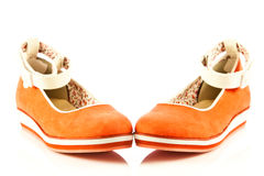 Girl shoes footwear isolated on white background accesories Royalty Free Stock Photography