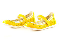 Girl shoes footwear isolated on white background accessories Stock Photo